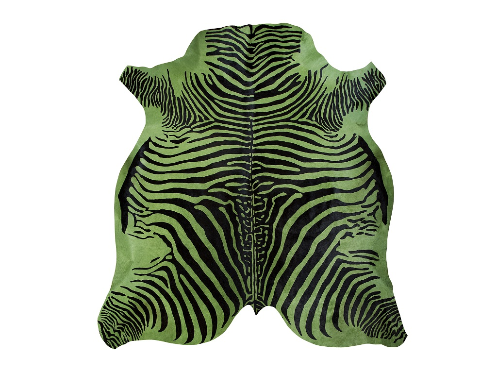 Cow Printed Zebra Green