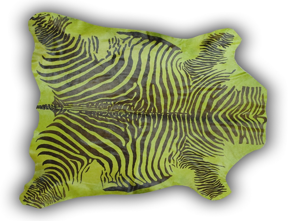 Cow Printed Zebra Light Green