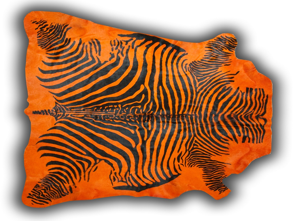 Cow Printed Zebra Orange